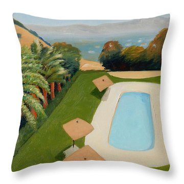 Throw Pillow featuring the painting So Very California by Gary Coleman