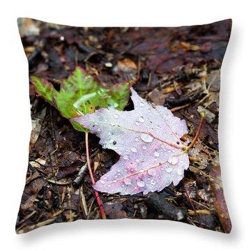 Soaken Leaves Throw Pillow