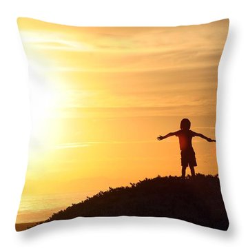 Soaking The Sunset Throw Pillow