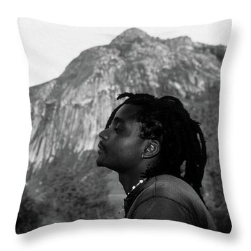 Soaking Up The Good Vibes Throw Pillow by Bruce J Robinson