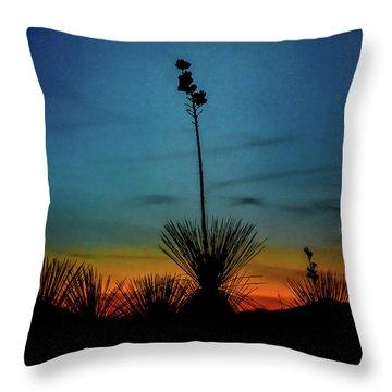 Soaptree Yucca At Sunset Throw Pillow