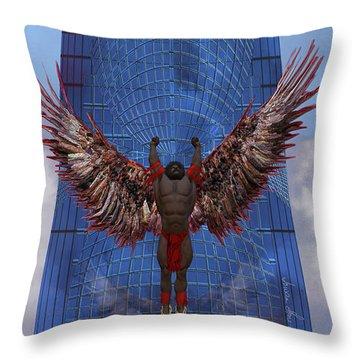 Throw Pillow featuring the digital art Soar by Iowan Stone-Flowers