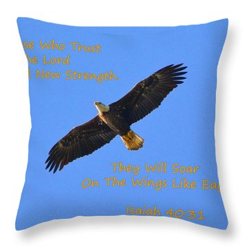 Soar On The Wings Like Eagles Isaiah 40 31  Throw Pillow