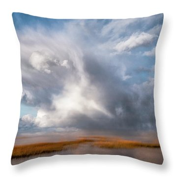 Soaring Clouds Throw Pillow