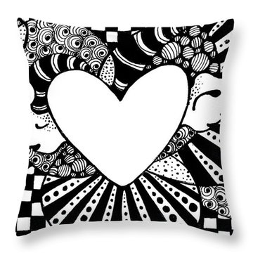 Soaring Heart  Throw Pillow by Nada Meeks