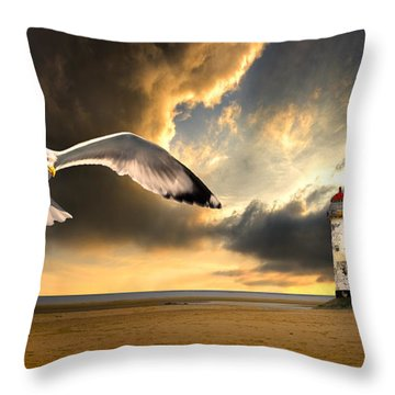 Soaring Inshore Throw Pillow