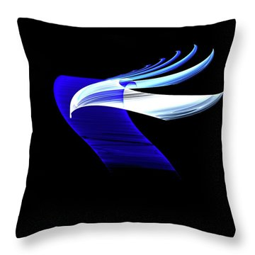 Soaring Throw Pillow by Lea Wiggins