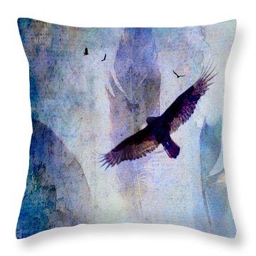 Soaring Throw Pillow by Lisa Noneman
