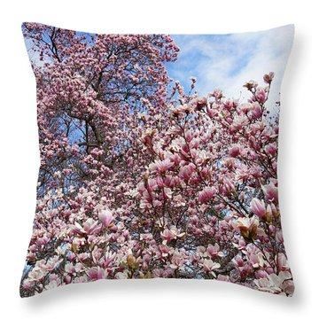 Soaring Magnolia Throw Pillow