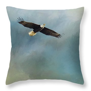 Throw Pillow featuring the photograph Soaring by Rebecca Cozart