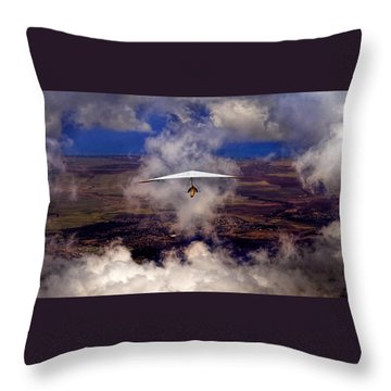 Soaring Through The Clouds Throw Pillow