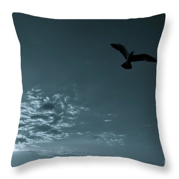 Soaring Throw Pillow by Valerie Rosen
