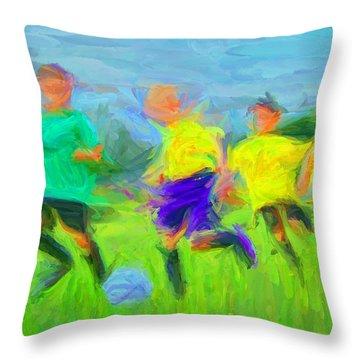 Soccer 3 Throw Pillow