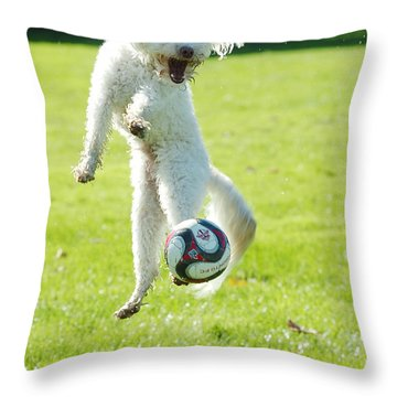 Soccer Dog-5 Throw Pillow