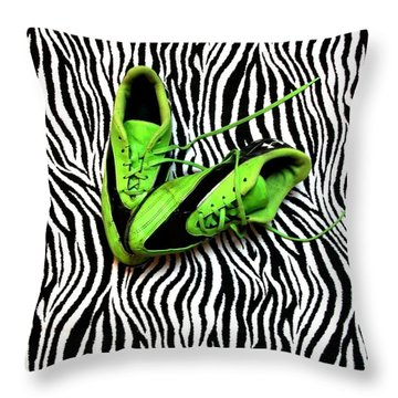 Soccer Girl Throw Pillow by Sarah Farren