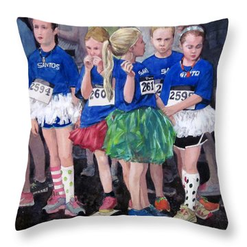 Soccer Girls Throw Pillow