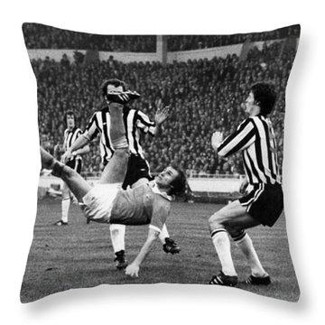 Soccer Match, 1976 Throw Pillow by Granger