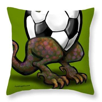 Soccer Zilla Throw Pillow