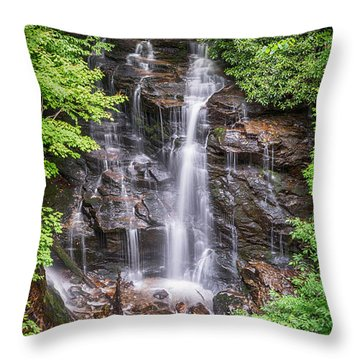 Throw Pillow featuring the photograph Socco Falls by Stephen Stookey