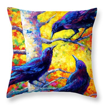 Raven Throw Pillows