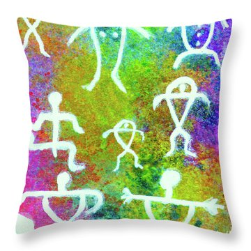 Society #221 Throw Pillow by Donald k Hall
