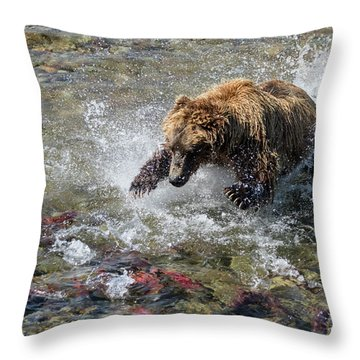 Sockeye In Sight  Throw Pillow