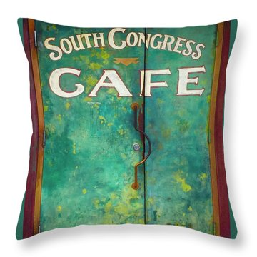Soco Cafe Doors Throw Pillow
