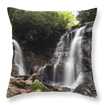 Soco Falls-landscape Version Throw Pillow