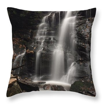 Soco Falls-portrait Version Throw Pillow