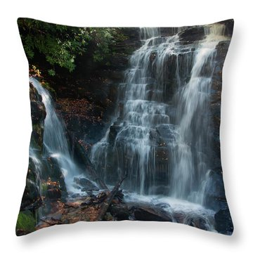 Throw Pillow featuring the photograph Soco Waterfalls  by Chris Flees