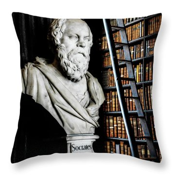 Socrates A Writer Of Knowledge Throw Pillow by Lexa Harpell