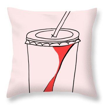 Soda Cup Throw Pillow