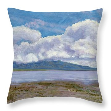 Soda Lake After The Storm Throw Pillow