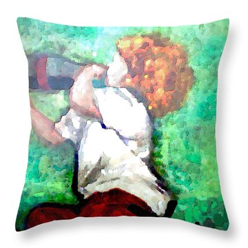 Soda Pop Child Throw Pillow