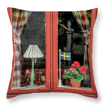 Throw Pillow featuring the photograph Soderkoping Window by KG Thienemann