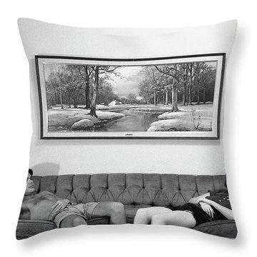 Sofa-sized Picture, With Light Switch, 1973 Throw Pillow