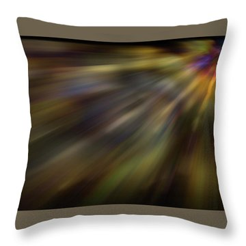 Soft Amber Blur Throw Pillow