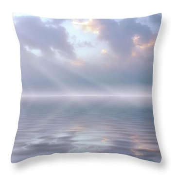 Soft And Sublime Throw Pillow by Jerry McElroy