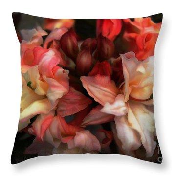 Soft Azalea Throw Pillow by Erica Hanel