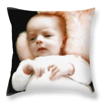 Soft Baby Throw Pillow by Ellen O'Reilly