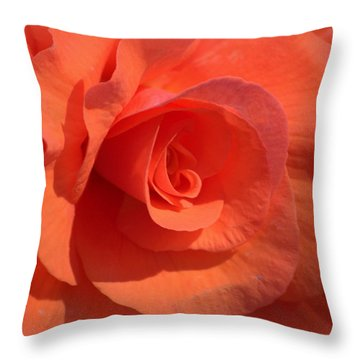 Soft Begonia Throw Pillow by AJ  Schibig