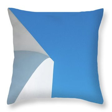 Throw Pillow featuring the photograph Soft Blue by Eric Lake