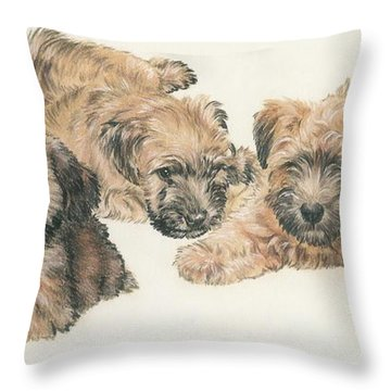 Soft-coated Wheaten Terrier Puppies Throw Pillow