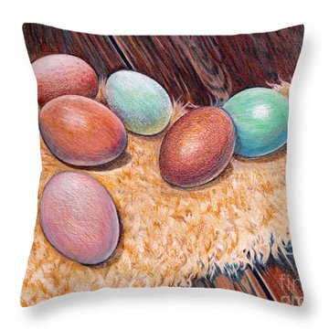 Soft Eggs Throw Pillow
