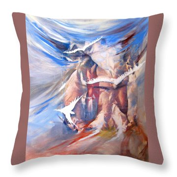 Soft Flight 2 Throw Pillow by Jan VonBokel