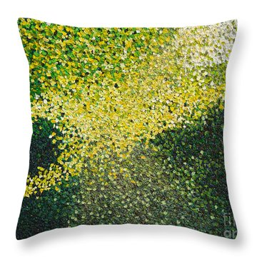 Soft Green Light  Throw Pillow by Dean  Triolo