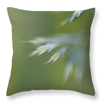 Throw Pillow featuring the photograph Soft Green by Michaela Preston