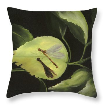 Soft Landing Throw Pillow by Carol Sweetwood