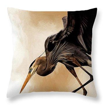 Soft Landing Throw Pillow by Cyndy Doty