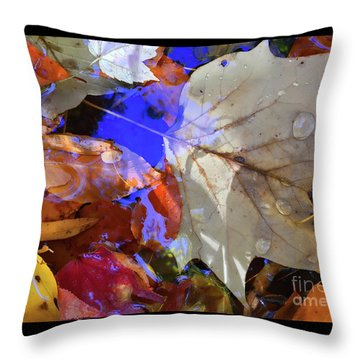 Soft Light Leaves Throw Pillow